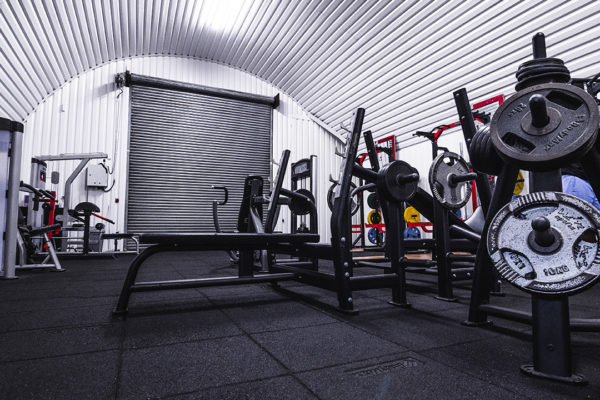 Picture of gym equipments in a bunker type gym