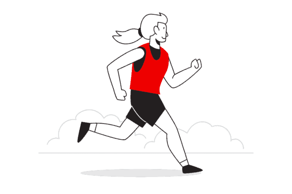 Jogging illustration